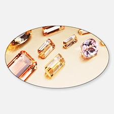 Topaz gemstones Sticker (Oval)