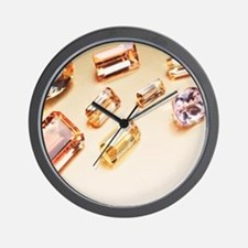 Topaz gemstones Wall Clock