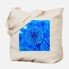 Herpes virus particles, artwork Tote Bag