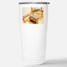 Topaz gemstones Stainless Steel Travel Mug