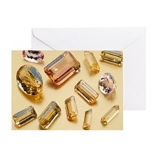 Topaz gemstones Greeting Card