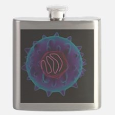 Hepatitis C virus, artwork Flask