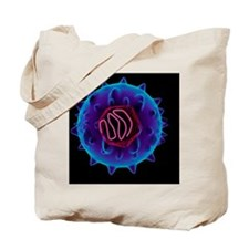 Hepatitis C virus, artwork Tote Bag