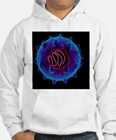 Hepatitis C virus, artwork Hoodie