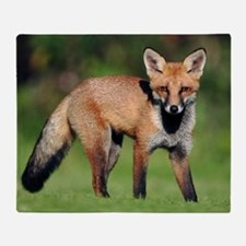 Red fox cub Throw Blanket