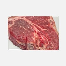 Raw T-bone steak Rectangle Magnet