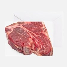 Raw T-bone steak Greeting Card