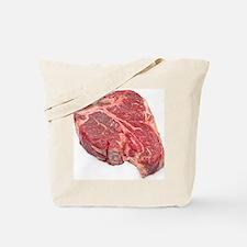 Raw T-bone steak Tote Bag