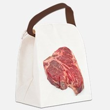 Raw T-bone steak Canvas Lunch Bag