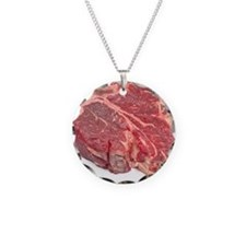 Raw T-bone steak Necklace