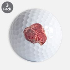 Raw T-bone steak Golf Ball