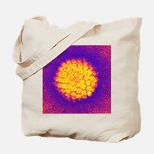 Herpes virus particle, TEM Tote Bag