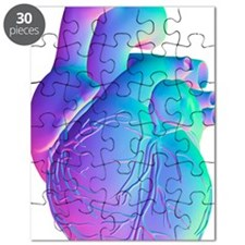 Heart, computer artwork Puzzle