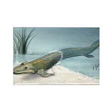 Tiktaalik prehistoric fish, artwo Rectangle Magnet