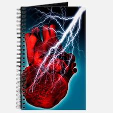 Heart attack, conceptual artwork Journal