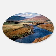 The river Helmsdale, Scotland Sticker (Oval)