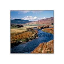 """The river Helmsdale, Scotla Square Sticker 3"""" x 3"""""""