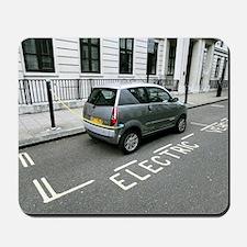 Recharging an electric car Mousepad