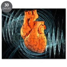 Heartbeat, conceptual artwork Puzzle