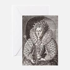 Queen Elizabeth I, English monarch Greeting Card