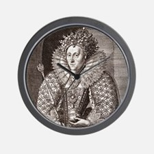 Queen Elizabeth I, English monarch Wall Clock
