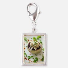 Healthy meal Silver Portrait Charm