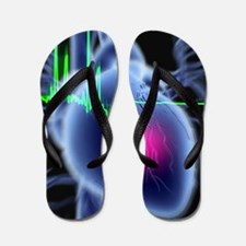 Heart attack and ECG trace Flip Flops