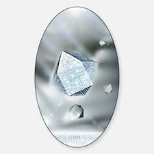Quantum nanocomputers Sticker (Oval)