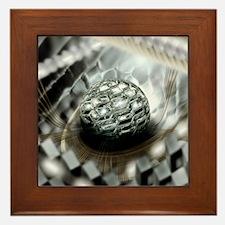 Quantum computer core Framed Tile
