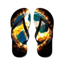 The end of the world Flip Flops