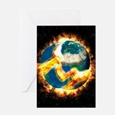 The end of the world Greeting Card