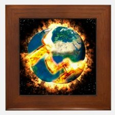 The end of the world Framed Tile