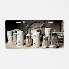 Radio receiver vacuum tubes Aluminum License Plate