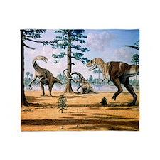 Tarbosaurus Throw Blanket
