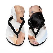 Head lice examination Flip Flops