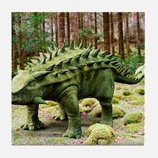 Talarurus dinosaur Tile Coaster