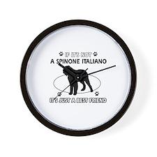 SPINONE ITALIANO designs Wall Clock