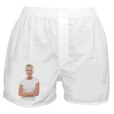 Happy senior woman Boxer Shorts