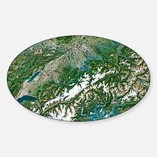 Switzerland, satellite image Decal