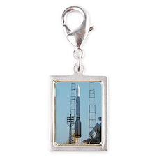 Proton rocket launch Silver Portrait Charm