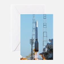 Proton rocket launch Greeting Card