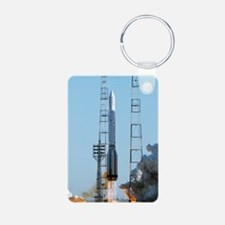 Proton rocket launch Keychains