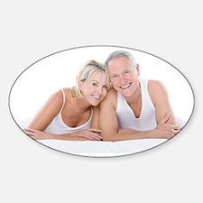 Happy senior couple Stickers