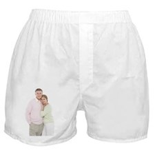 Happy senior couple Boxer Shorts