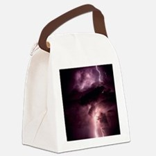 Summer lightning storm near Tusco Canvas Lunch Bag