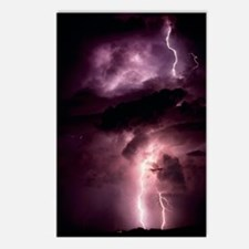 Summer lightning storm ne Postcards (Package of 8)
