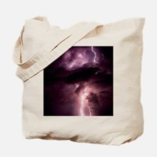 Summer lightning storm near Tuscon, Arizo Tote Bag