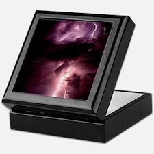 Summer lightning storm near Tuscon, A Keepsake Box
