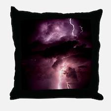 Summer lightning storm near Tuscon, A Throw Pillow