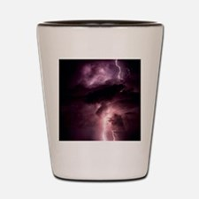 Summer lightning storm near Tuscon, Ari Shot Glass